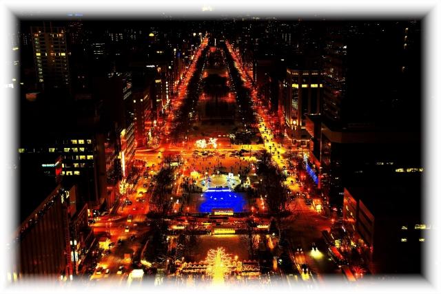 札幌の冬の夜景