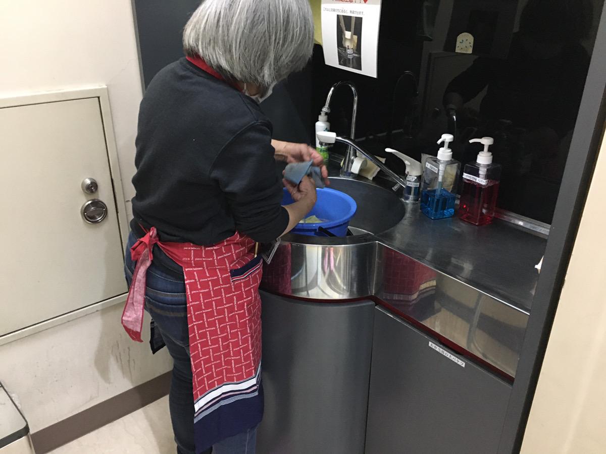 清掃実習の練習